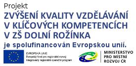 odkaz na IROP projekt ZŠ Dolní Rožínka
